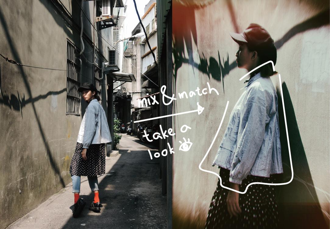LOOKBOOK 日系街頭混搭 with 工裝式短款寬鬆薄外套
