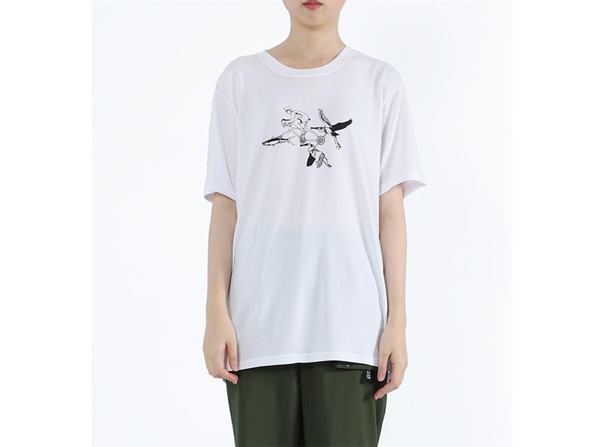 魚鷺軍戰 - 魚鷺騎士膠原蛋白印花Tee 白