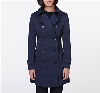 CA Sheen Trench Coat - Blue