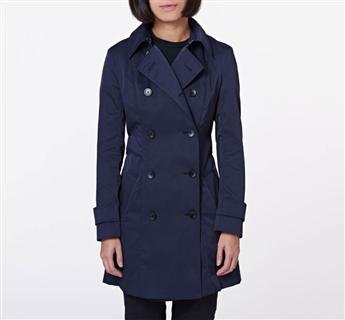 CA Sheen Trench Coat - Blue