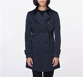 CA Sheen Trench Coat - Black
