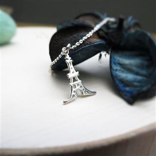 旅行去法國 - 巴黎鐵塔 (純銀項鍊)