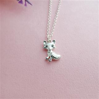 小狐狸項鍊 (銀飾項鍊 925純銀)小狐狸項鍊 (純銀項鍊)