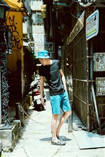 天藍丹寧漁夫帽