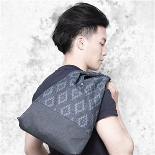 遠山幻漠  - 日式方塊印花手提布包
