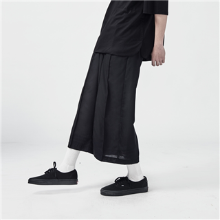 線褶西裝寬褲