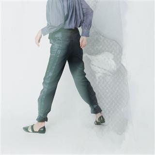 有機棉脇邊緞面壓摺長褲