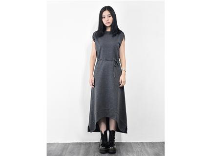 連袖洋裝(深灰)
