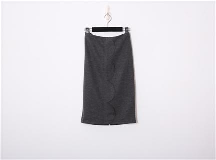波浪短裙(深灰)