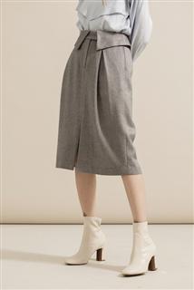 反折腰頭鉛筆裙
