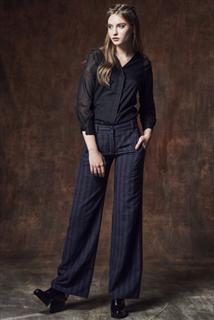 紫黑條紋長褲