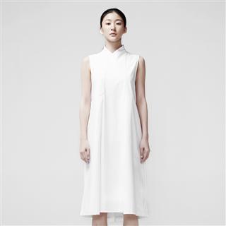 Y領打褶洋裝 A6067-WS