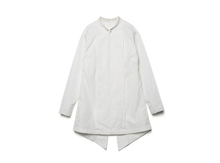 立領開衩襯衫(白)