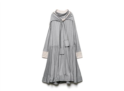 披肩式洋裝(灰)