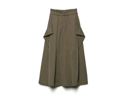 打摺口袋寬褲(深綠)