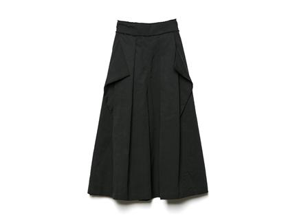 打摺口袋寬褲(黑)