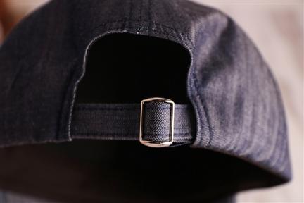 防潑水丹寧棒球帽-午夜藍