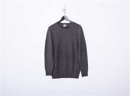 素色織紋上衣(鐵灰)