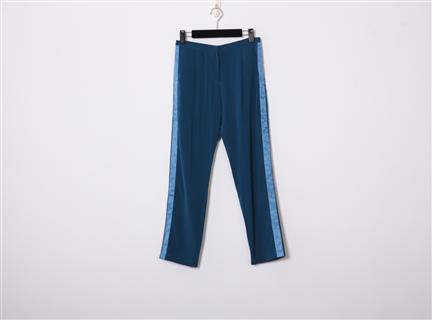 拼接長褲(寶藍)