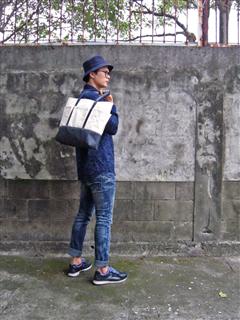 DENIM-POCKETS-手做皮革丹寧帆布多口袋手提/托特/筆電包