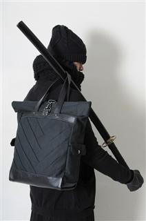 SAMURAI-手做皮革帆布捲蓋式手提/肩揹/筆電包