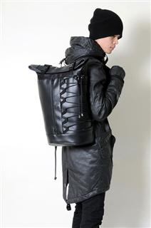 NINJA-手做防水人造皮革折蓋式後揹/筆電包
