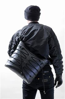 NINJA-手做防水人造皮革斜側揹/筆電包