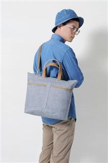 BUD-手做皮革帆布手提/斜側揹/筆電包
