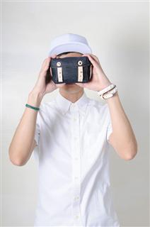 DENIM-手做皮革丹寧牛仔帆布盒型相機/收納包