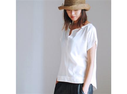 棉上衣 - 米白