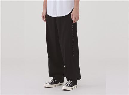 虛線低檔寬褲
