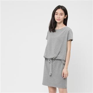 法國小毛圈衣裙洋裝/中灰