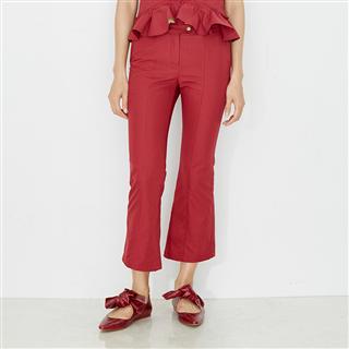 紅色復古喇叭褲