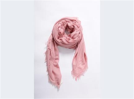 細格紋圍巾-粉