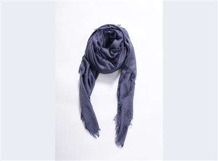 細格紋圍巾-紫