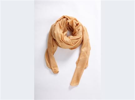 素面圍巾-土黃