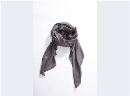 素面圍巾-鐵灰