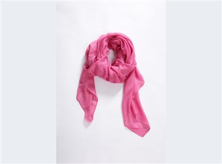 素面圍巾-粉
