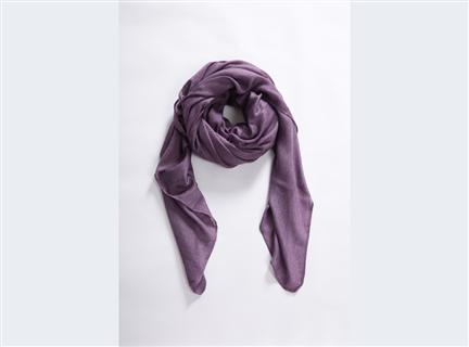 素面圍巾-紫