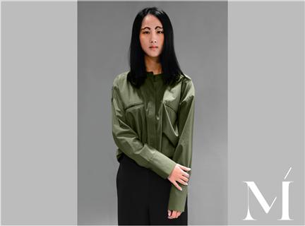 AA201口袋襯衫綠