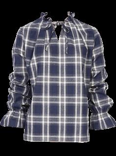 AA221格子襯衫藍