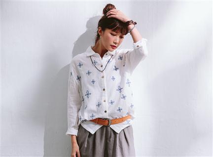 MM 十字繡襯衫