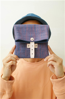 EASTER EGGS-手做皮革碎點印花帆布折疊式相機/收納包
