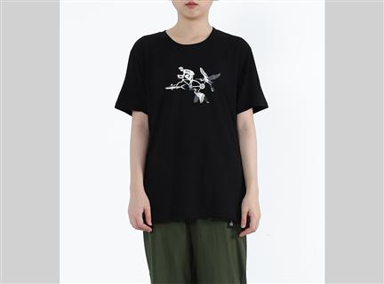 魚鷺軍戰 - 魚鷺騎士膠原蛋白印花Tee 黑