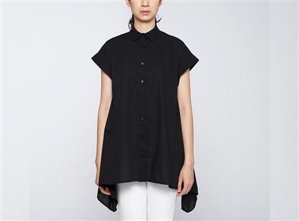 強撚傘狀罩衫(黑)