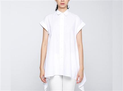 強撚傘狀罩衫(白)