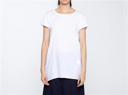 膠原蛋白拼接罩衫(白)