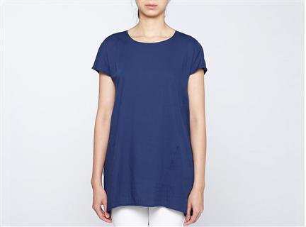 膠原蛋白拼接罩衫(藍)