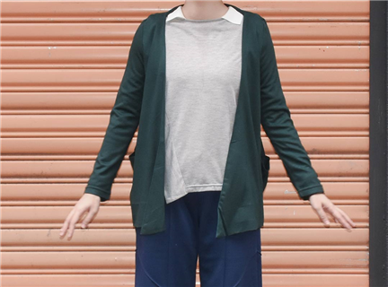 休閒罩衫-墨綠
